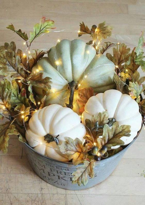 Wrapped in Fairy Lights - Fall Table Centrepieces