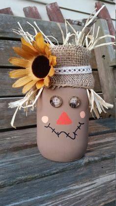 Create a Scarecrow - Fall Table Decor Ideas
