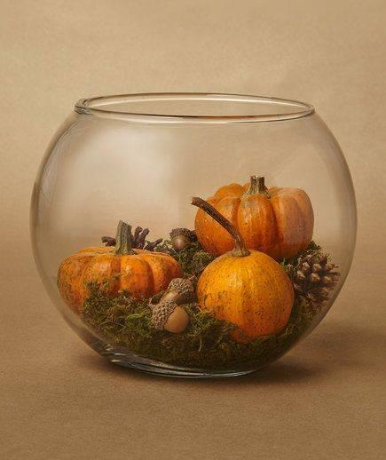 A Glass Bowl - Filled with Fall