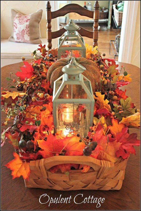 A Basket of Autumn – Fall Table Decor Ideas