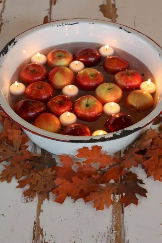Inspired by Apple Bobbing - Traditional and Rustic
