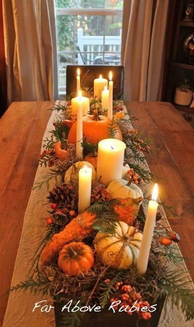 A Breath of Nature - Fall Table Centrepieces
