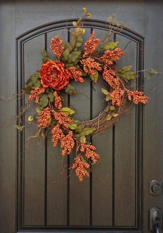 Brilliant Berries - Fall Wreath Ideas for Front Doors