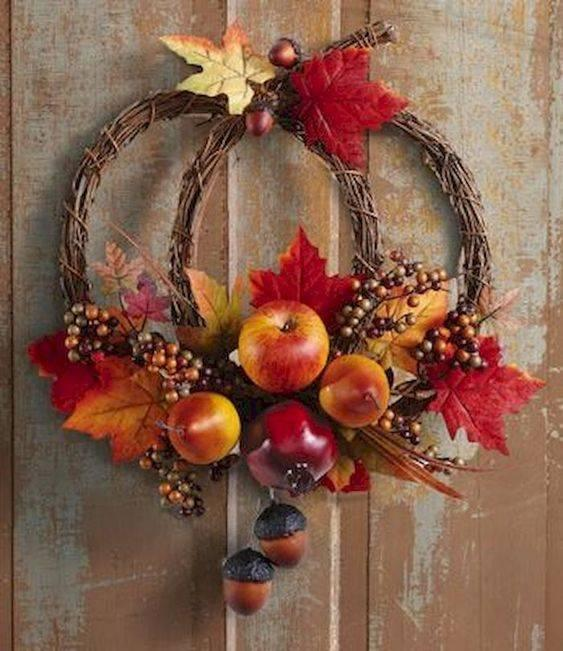 Happy Harvest - Fall Wreath Ideas for Front Doors