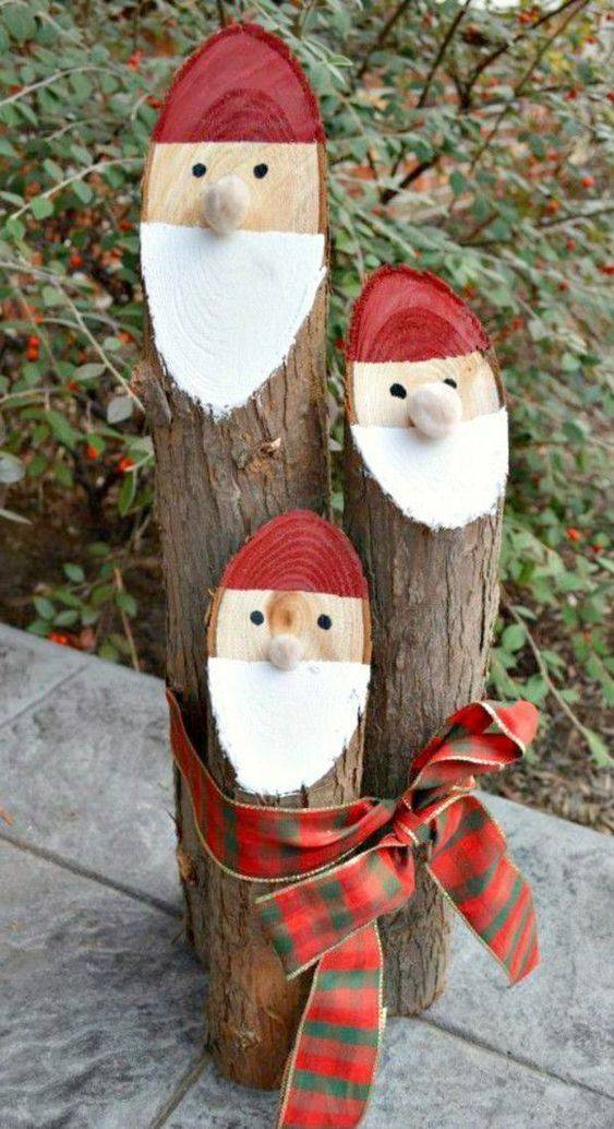 Wooden Ornaments - Budget-Friendly Outdoor Christmas Decoration