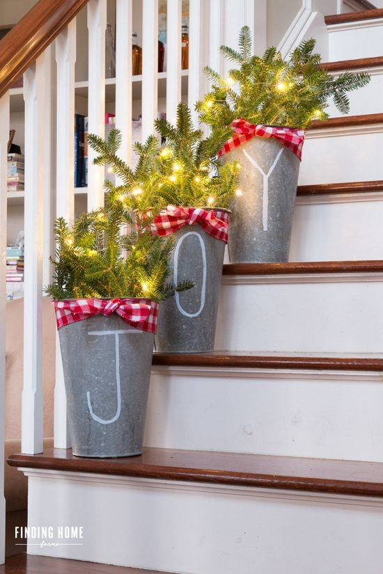 Joy to the World - Decorative Buckets
