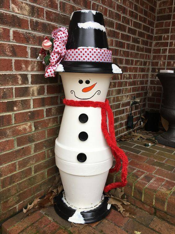 A Flowerpot Snowman - Cute and Funny
