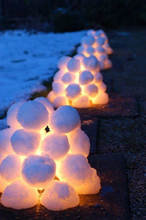 Snow Ball Luminaries - Stunning and Amazing