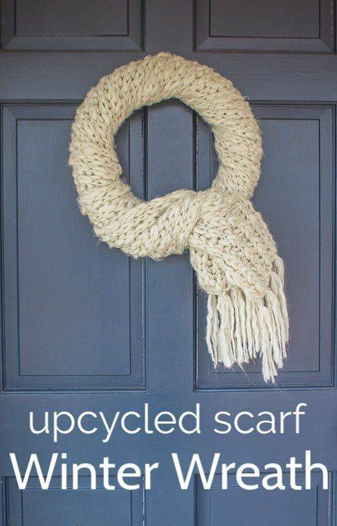 Another Simple Scarf - Winter Door Decorations