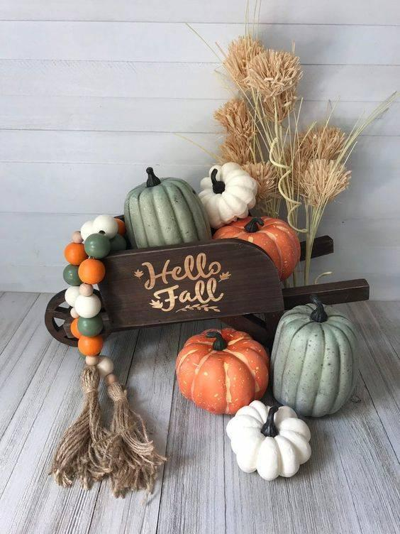 Say Hello to Fall – A Cart of Pumpkins