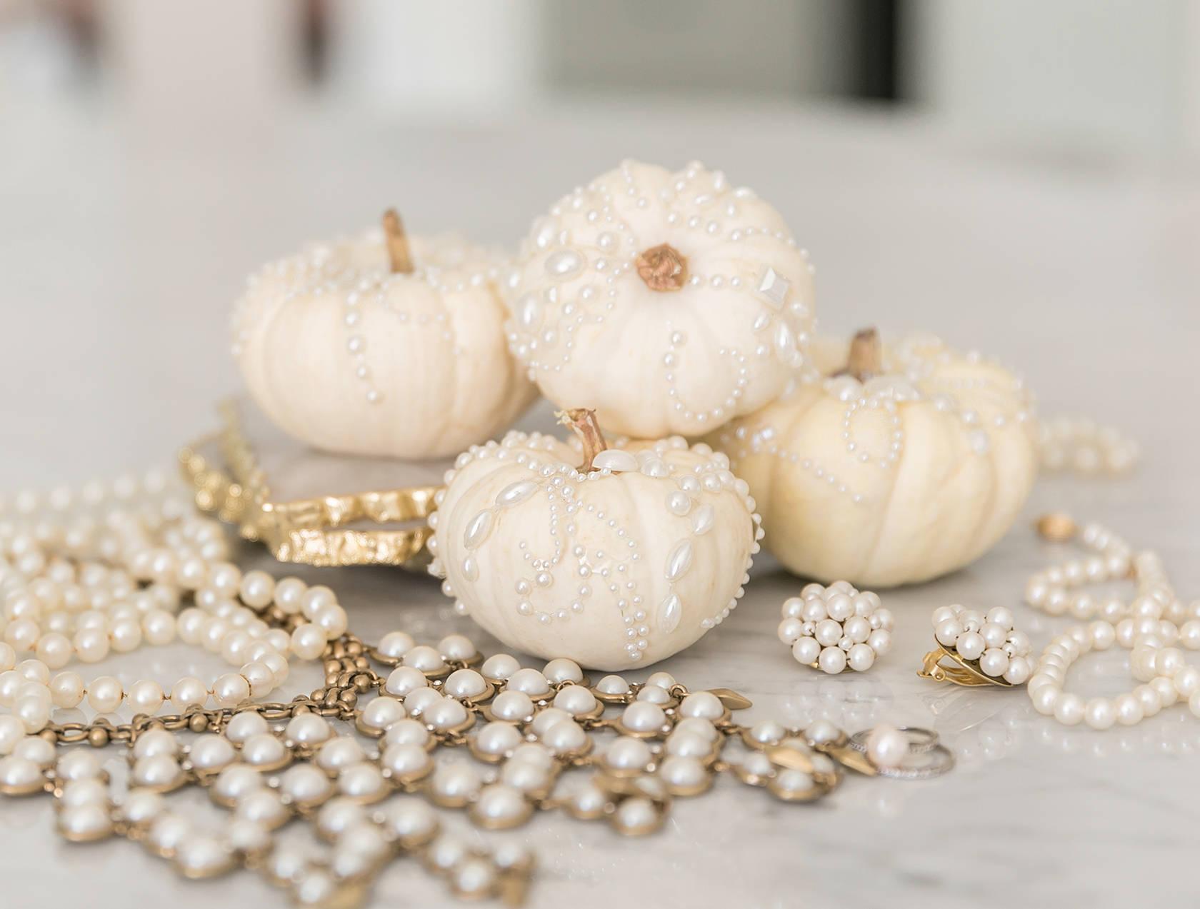 Pearls on Pumpkins – Creative Pumpkin Decorating