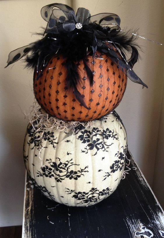 Black Lace – Halloween Pumpkin Decorations