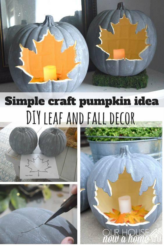 Carve Out a Leaf - Creative Pumpkin Decoration Ideas