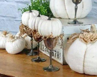 Pumpkins in Glasses - Keeping it Simple