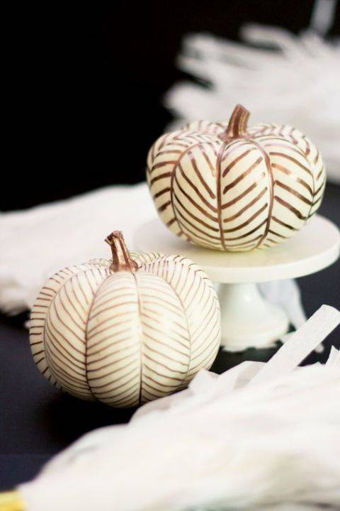 Painting Patterns – Creative Pumpkin Decorating Ideas