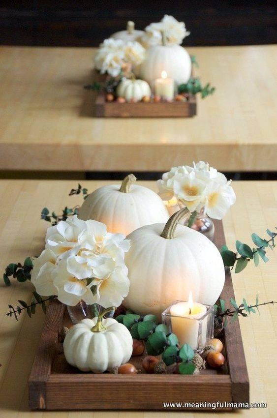Terrific on a Tray - Creative Pumpkin Decorating Ideas