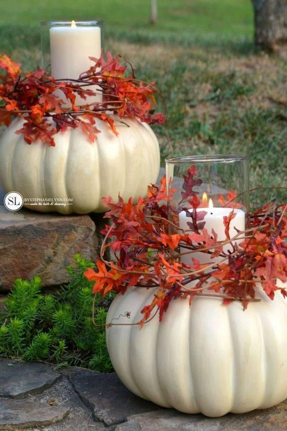 Create Pumpkin Candle Holders - Fabulous Ideas
