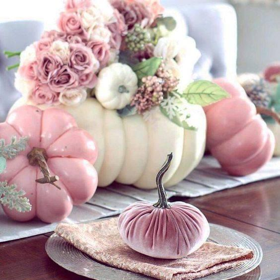Perfect in Pink - Creative Pumpkin Decorating Ideas