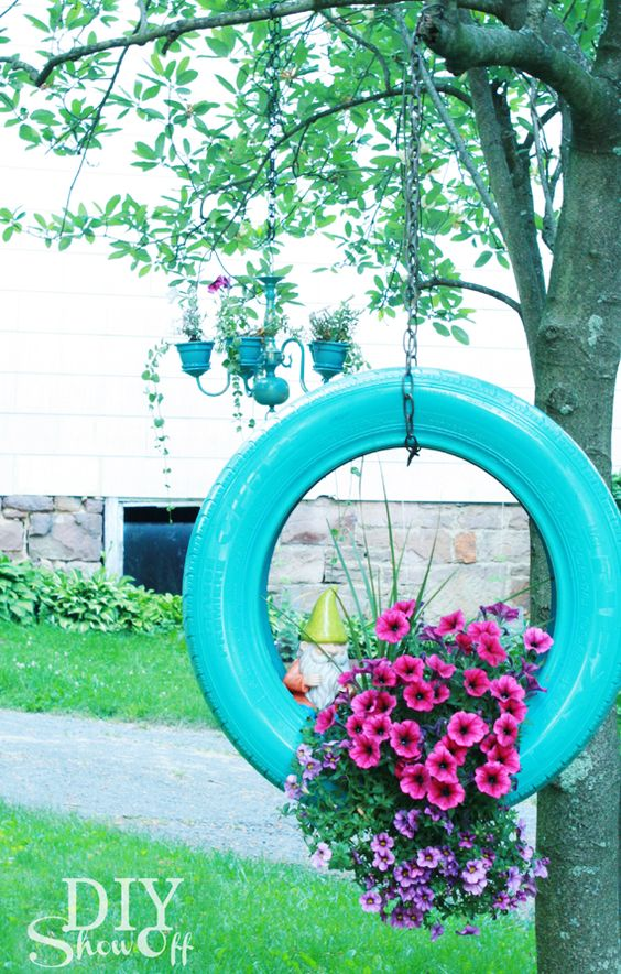 Reinventing a Car Tire - Garden Decorations for Spring