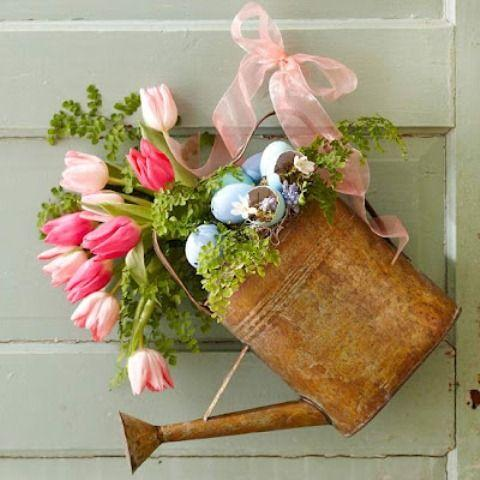 A Pretty Planter - Garden Decorations for Spring
