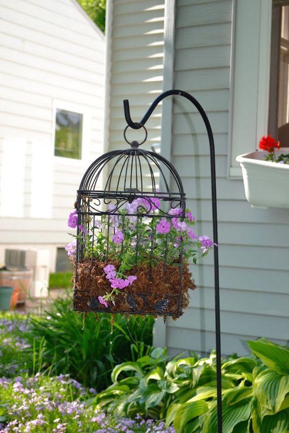 A Vintage Birdcage - Garden Decorations for Spring