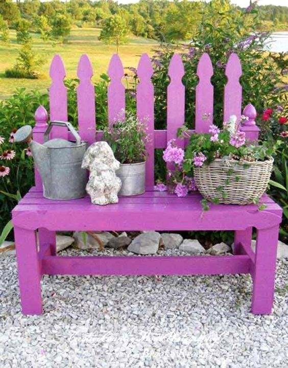 Pretty in Purple - Garden Decorations for Spring
