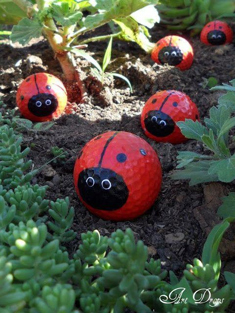 Golf Ball Ladybugs - Cute and Creative