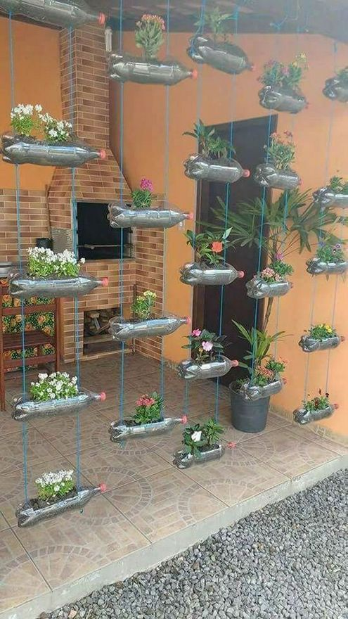 Plastic Bottles Planters - Outdoor Spring Decorations