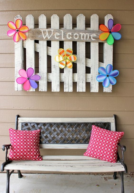 A Welcome Sign – Reuse an Old Fence