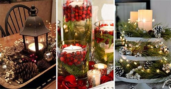25 CHRISTMAS TABLE CENTREPIECES – Homemade Christmas Table Decorations