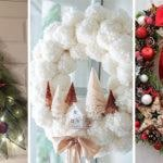 25 CHRISTMAS DOOR WREATHS – Christmas Door Decorations