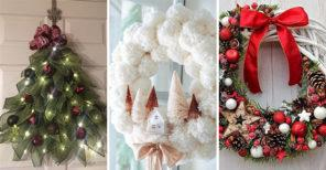 25 CHRISTMAS DOOR WREATHS - Christmas Door Decorations