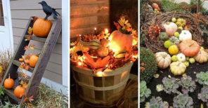 25 FALL DECORATIONS FOR OUTSIDE – Fall Decorating Ideas for Outside