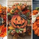 25 FALL WREATH IDEAS – Fall Wreath Ideas for Front Doors