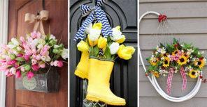 25 GORGEOUS SPRING DOOR DECORATIONS – Spring Wreaths for the Front Door