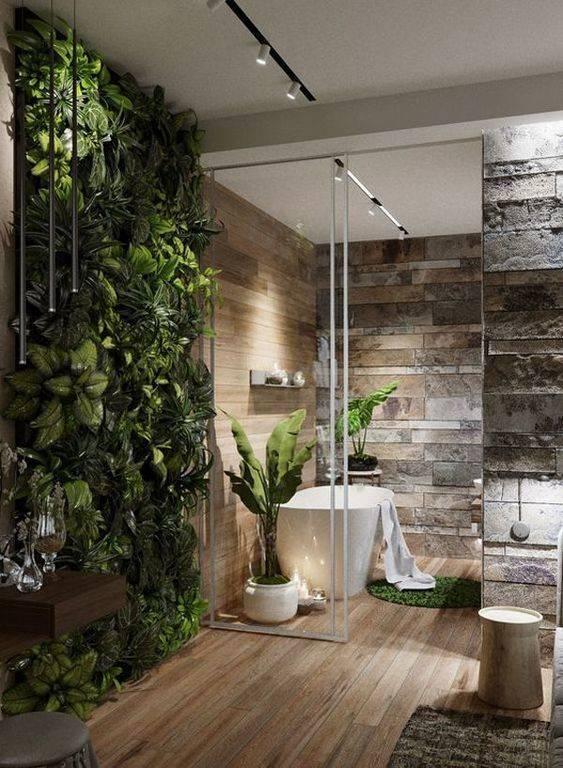 Lush with Life - Earthy Master Bathroom Ideas