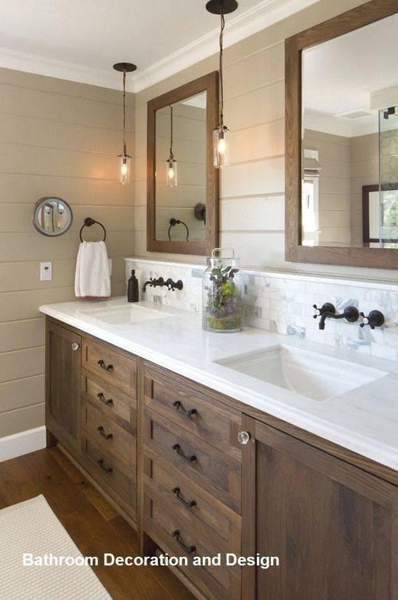 Creative with Wood - Modern Master Bathroom Designs