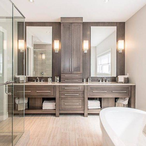Working with Wood - Master Bathroom Ideas