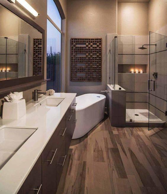 Deep and Dreamy - Modern Master Bathroom Designs