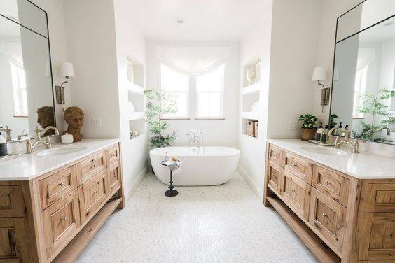 Symmetry and Style - Master Bathroom Ideas
