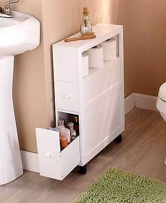 A Moveable Cabinet - Small Bathroom with Storage