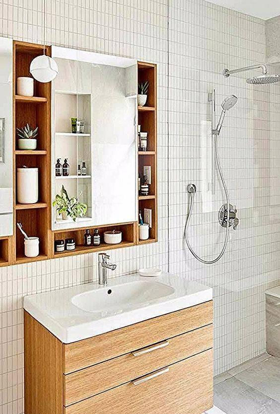 Around the Mirror - Small Bathroom with Storage