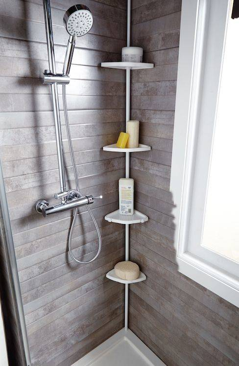 In the Corner of the Shower - Organized and Neat