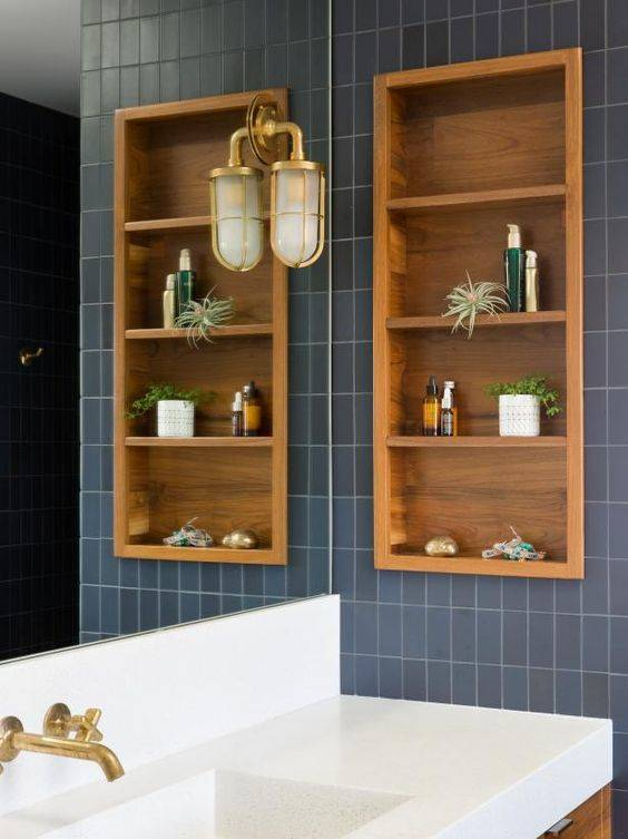 Add Built-in Shelves - Small Bathroom with Storage