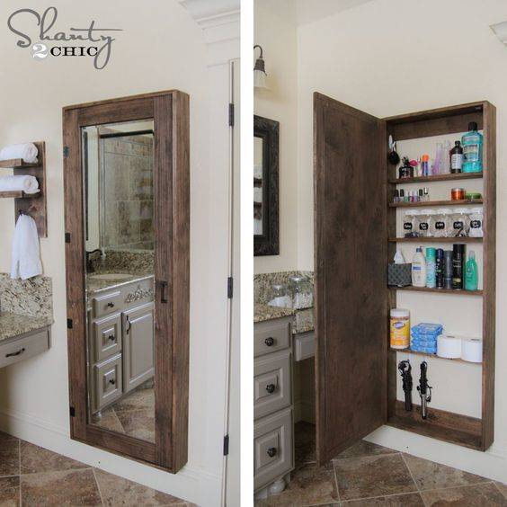 Amazing Hidden Storage - Small Bathroom with Storage