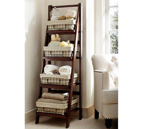 Recycle an Old Ladder - Bathroom Storage Ideas for Small Spaces