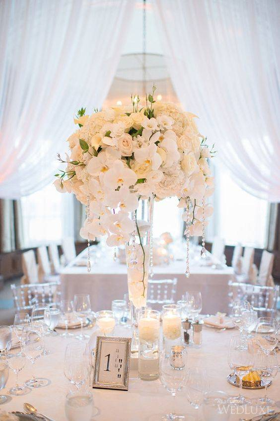 Orchids and Roses - Wedding Table Decoration Ideas