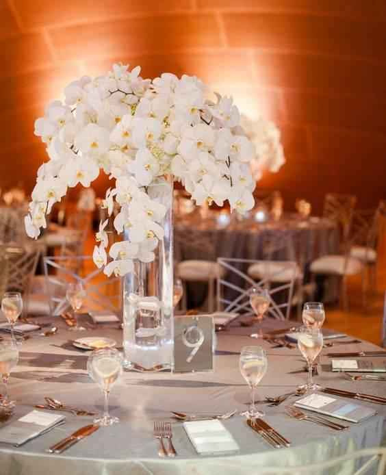 A Shower of Orchids - Simple Wedding Decoration Ideas