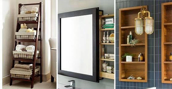 25 BATHROOM STORAGE IDEAS FOR SMALL SPACES - Small Bathroom with Storage
