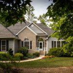 brown, white, bungalow house, surrounded, green, trees, house, home, residence, real estate